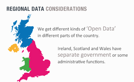 Regional Data Considerations - We get different kinds of 'Open Data' in different parts of the country